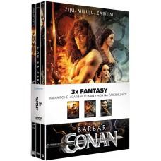 3X FANTASY (3DVD): BARBAR CONAN + VÁLKA BOHŮ + HON NA ČARODEJNICE